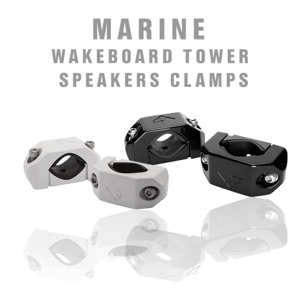 Marine Wakeboard Tower Speaker Clamps